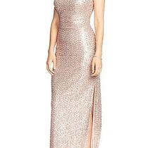 Lauren Ralph Lauren Evening Blush Rosegold Sequin Cutout Back Gown Dress Size 12 Photo