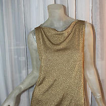 Lauren Ralph Lauren Gold Beige Blouse Top L Large  Photo