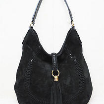 Lauren Ralph Lauren -Indian Cove -Black Suede Leather -Hobo Handbag Purse Photo