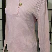 Lauren Ralph Lauren L Blush Pink Sweater Ribbed Blouse Unique Surplice Shirt  Photo
