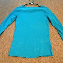 Lauren Ralph Lauren Medium Aqua Blue 3/4 Sleeve Top Photo