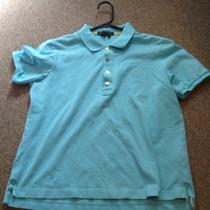 Lauren Ralph Lauren Medium Aqua Blue Short Sleeve Polo Shirt Photo