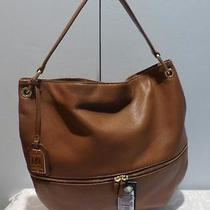 Lauren Ralph Lauren Meysey' Leather Hobo Bourbon Orig 268.00 Photo