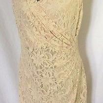 Lauren Ralph Lauren Pink Blush Women's Size 14 Sheath Sequin Floral Lace Dress  Photo