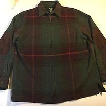Lauren Ralph Lauren Plaid 100% Lambs Wool Full Zip Coat Blazer Jacket Size 8 Photo