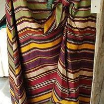 Lauren Ralph Lauren Striped Silk Sarong Skirt Medium Photo