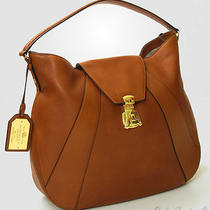 Lauren Ralph Lauren Winslow Leather Large Hobo Handbag - Tan Photo
