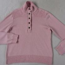 Lauren Ralph Lauren Women's Cotton L/s Henley Collared Blush Pink Sweater - Xl Photo