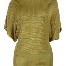Lauren Ralph Lauren Women's Metallic Knit Top (S Gold) Photo