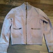 Lavender Blush Bomber Jacket Sm Zipper Pockets Zip Up Ribbed Collar Nordstrom Photo