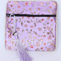 Lavender Jewelry Pocket Money Silk Zipper Bags Pouches T876a03 Photo