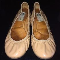 Lavin  Leather Ballet Flats Color Nude Org495 Size 6.5 Made in Italy Preowned Photo