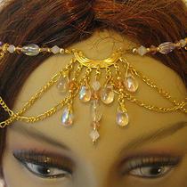 Lavish Gold Victorian Style Circlet/ Necklace W/ Czech & Ab Swarovski Crystals Photo