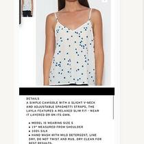 Layla Silk Cami  Nature White Size Xl Blue Stars Camisole Tank Top Photo