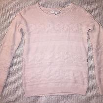 Lc Lauren Conrad Blush Pink Cable Knit Sweater Xs  Photo