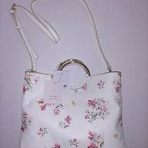Lc Lauren Conrad Ring Convertible Bloom Print Crossbody Bag Purse White  Photo