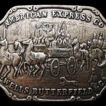 Lc13103 Vintage 1970s American Express Co. Company Belt Buckle Photo