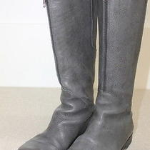 Ld Tuttle Gray Leather Tall Boots With Front and Back Zipper Detail  Sz 36.5 Photo