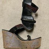 Le Silla Platform Sandals With Swarovski Crystals. Size 40 Photo