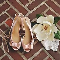 Le Soir Stiletto Slingback Heels Pour La Victoire Size 9 Bride Wedding Shoes  Photo