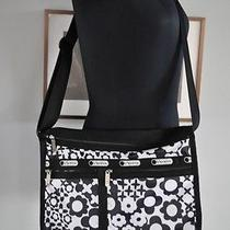 Le Sport Sac Black and White Floral Crossbody Nice for Summer Photo