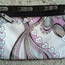 Le Sport Sac Hearts Swirls Cosmetic Bag Photo