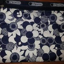 Le Sport Sac Navy & White Floral Make Up Bag Photo
