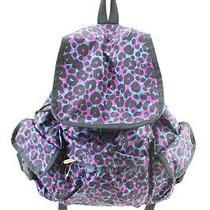 Le Sport Sac New Purple Printed Backpack Osfa 118 Dbfl Photo