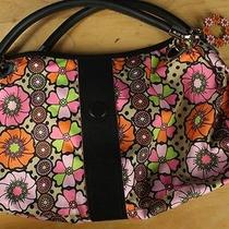 Le Sport Sac Purse Medium Sparkler Vixen Oc Collection Nylon Tote Floral  Photo