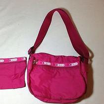 Le Sport Sac Raspberry Pink Purse With Zippered Coin Purse Photo
