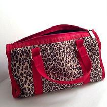 Le Sport Sac Red Leopard Print Purse W/ Strap.  Photo