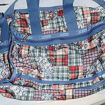 Le Sport Sac Travel Tote Plaid  Blue Red Photo