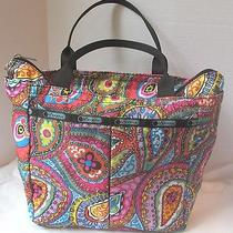 Le Sportsac  Bright Multi Colored Paisley Print Handbag  Photo