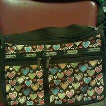 Le Sportsac Brown Hearts Purse Photo