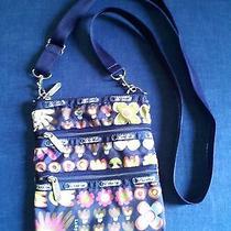 Le Sportsac Cross Body Handbag Spring Daisy Flowers Garden Cute & Unique & Rare Photo
