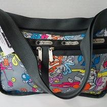 Le Sportsac Deluxe Everyday Bag - 7507 Paint by Numbers - Handbag Purse Photo