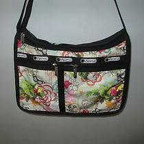 Le Sportsac Deluxe Everyday Bag Floral Crossbody Shoulder Purse  Photo