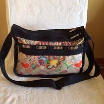 Le Sportsac Every Day Crossbody Shoulder Bag Fun Multicolor Print Photo
