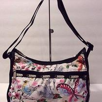 Le Sportsac Every Day Crossbody Shoulder Bag Fun Multicolor Print Photo
