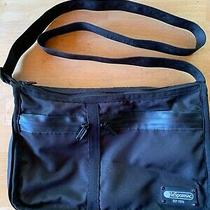 Le Sportsac Everyday Crossbody Messenger Bag Purse Black  Photo