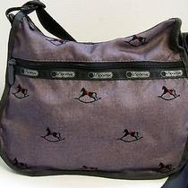 Le Sportsac Gray Black Rocking Horse Nylon Crossbody Bag Photo
