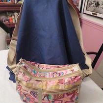 Le Sportsac Handbag Messenger Tote W/ Expandable Depth Crossbody Strap Shoppers Photo