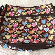 Le Sportsac Hearts on Brown Purse Photo