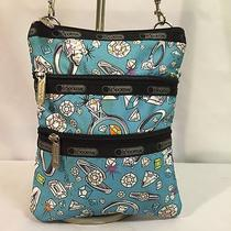 Le Sportsac Medium Diamond Rings Nylon Messenger Shoulder Cross Body Bag Nice Photo