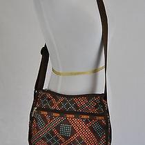 Le Sportsac Orange Crossbody Nylon Bag Purse Tote Shoulder N Photo