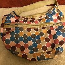 Le Sportsac Polka Dot Rounded Bottom W/ Seat Belt Clip Strap Bag Purse  Photo