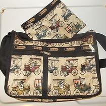Le Sportsac Purse Shoulder Bag  Antique Cars Matching Bag Photo