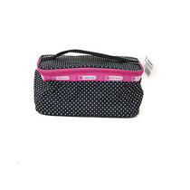 Le Sportsac Rectangular Black Polkadots Cosmetic/makeup Bag Photo