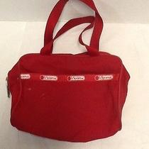 Le Sportsac Small Purse Cosmetic Bag Handles Red Needs Tlc Le Sports Sac Photo