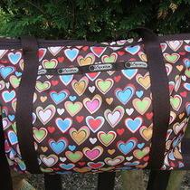 Le Sportsac Tote Handbag With Hearts Photo